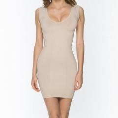 9042 V-Neck Dress NUD Front