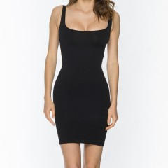 9046 Skinny Dress BLK Front